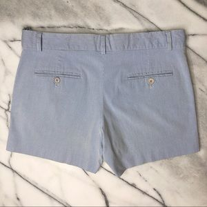 THEORY Seersucker Blue White Pinstripe Shorts 2